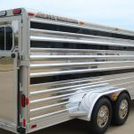Bumper Pull Low Pro Stock Trailer - Polished Fenders and Polished Slats