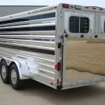 Bumper Pull Low Pro Stock Trailer - Added Full Width Spring Loaded Rear Ramp with Stainless Steel Skin