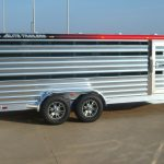 Bumper Pull Low Pro Stock Trailer - Added Painted Top Rail