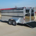 Bumper Pull Low Pro Stock Trailer - Added Full Width Spring Loaded Rear Ramp (Down)