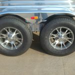 Bumper Pull Low Pro Stock Trailer - Standard 225/75R15 Load Range D Radial Tires on Alcoa Aluminum Wheels and Polished Fenders and Slats