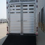 Ground Load Semi Stock Trailer - Added Full Width Spring Loaded Rear Ramp (Down)