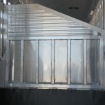 Ground Load Semi Stock Trailer - Rear Drop Ramp in Up Position