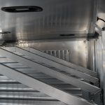 Ground Load Semi Stock Trailer - (Interior) Top View of Full to Bottom Polo Style Dividers