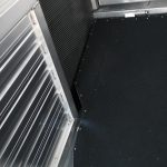 Ground Load Semi Stock Trailer - (Interior) Rear Drop Ramp Divider Cut Out