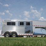 2 Horse Gooseneck Straight Load - (Curbside) V-Nose