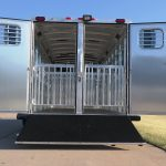 Low Pro Gooseneck - Double Rear Doors with Windows (50/50), Full Width Spring Loaded Rear Ramp (Down), Removable Pens with Removable Full Height Posts and Alley Gates