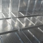 Ground Load Semi Stock Trailer - Standard Corrugated Tread Plate Floor with Traction Bars on Stock Floor