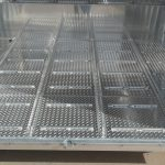 Ground Load Semi Stock Trailer - Standard Corrugated Tread Plate Floor with Traction Bars on Stock Floor (Rear Drop Corrugated Tread Plate Split Ramp Removed)