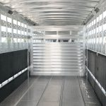 Straight Floor Semi Stock Trailer - Standard Center Gate with Double Ring Latch (Swings 180 Degrees)