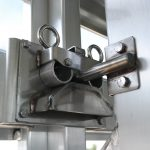 Straight Floor Semi Stock Trailer - Standard Center Gate Double Ring Latch