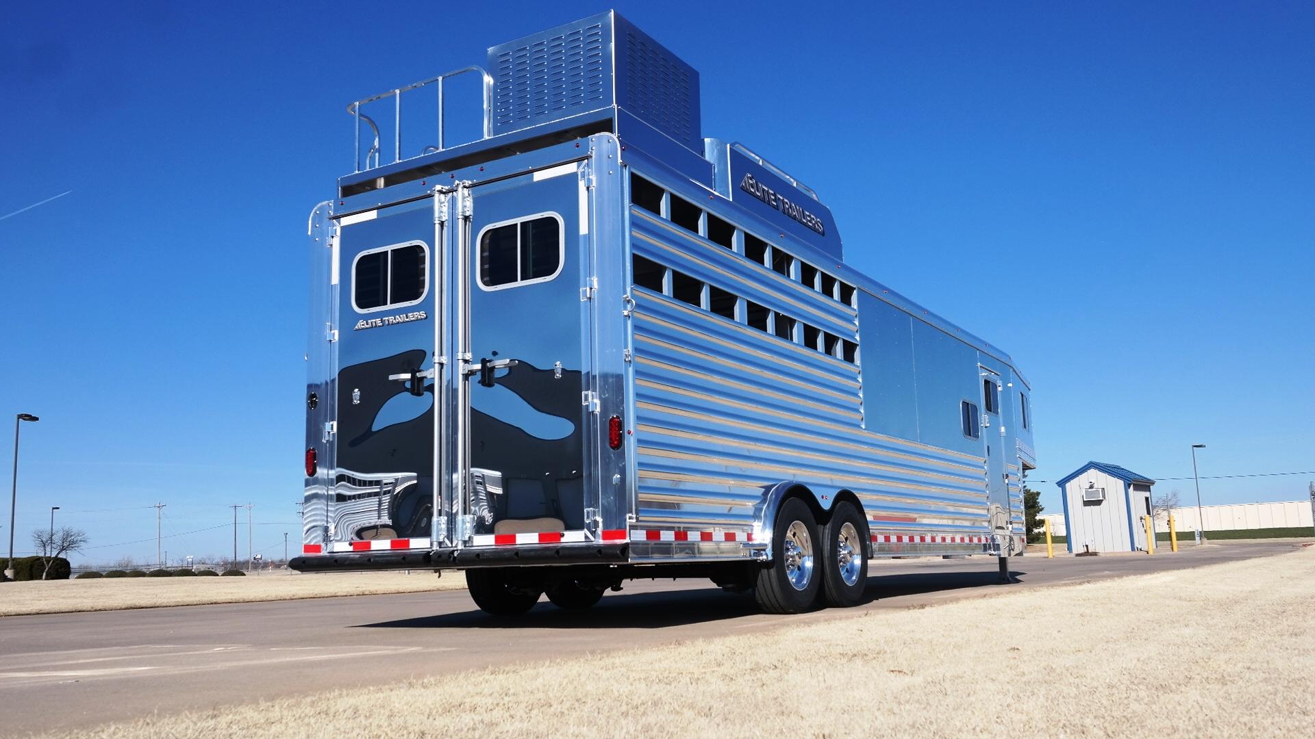 Gooseneck Stock Combo Aluminum Trailer Elite Custom Horse Hang Wiring Harness Single Axle