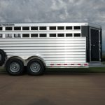 7' Wide Bumper Pull Stock Trailer - Closed in Air Spaces with Smooth Skin