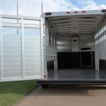 7' Wide Bumper Pull Stock Trailer - Full Width Rear Gate (No 1/2 Slider), Replaces Full Width Rear Gate with 1/2 Slider