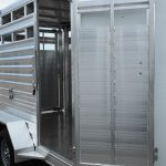 Wrangler Stock Bumper Pull Trailer - (Exterior) Standard Escape Gate (Open)