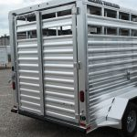 Wrangler Stock Bumper Pull Trailer - Standard Full Width Rear Gate with 1/2 Slider