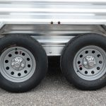 Wrangler Stock Bumper Pull Trailer - 205/75R15 Load Range D Radials with 15 inch Modular Wheels and Center Cap, and Brush Fenders