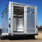 Wrangler Stock Bumper Pull Trailer - Standard Full Width Rear Gate with 1/2 Slider (Open)