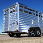 Wrangler Stock Bumper Pull Trailer - Brush Fenders and Standard Full Width Rear Gate with 1/2 Slider