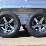 Wrangler Stock Bumper Pull Trailer - 205/75R15 Load Range D Radials, Added 15 inch Aluminum Grey Inset Wheels