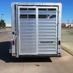 Wrangler Stock Bumper Pull Trailer - Standard Full Width Rear Gate with 1/2 Slider