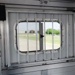 2 Horse Wrangler Stock Combo Plus - Standard Drop Down Door with Production Style Drop Down Window Bars (Interior)