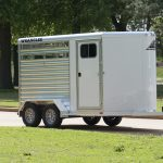 2 Horse Wrangler Stock Combo - Standard Wedge Nose and Standard Dressing Room Door with Window