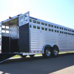 12 Horse Gooseneck Polo Horse Trailer - Front Tack with Door Mounted Saddle Racks, Fold Up Steps, Undernose Bridle Hooks, and Spring Loaded Rear Ramp.