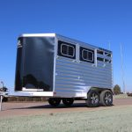 2 Horse Wrangler Stock Combo Plus - Standard Wedge Nose and Standard Drop Down Doors on Streetside (Head Side)