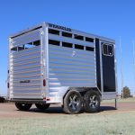 2 Horse Wrangler Stock Combo Plus - Standard Full Width Rear Door