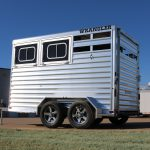 2 Horse Wrangler Stock Combo Plus - Standard Drop Down Doors on Streetside (Head Side)
