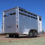 3 Horse Wrangler Stock Combo - Standard Full Width Rear Door