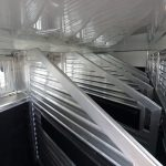 6 Horse Gooseneck Slant Load - (Interior) Full to Bottom Manger Style Horse Dividers with Padding