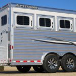 4 Horse Mustang Living Quarters - Added Full Width Spring Loaded Rear Ramp