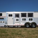 3 Horse Mustang (White Skin) - Drop Down Doors with Windows and Production Style Drop Down Window Bars