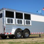 3 Horse Mustang (White Skin) - Drop Down Doors with Windows and Welded Bars (Replaces Standard 15inx34in Windows with Welded Bars)