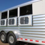 4 Horse Mustang (White Skin) - Drop Down Doors with Windows and Welded Bars (Replaces Standard 15inx34in Windows with Welded Bars)