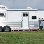 2 Horse Mustang Living Quarters - Side View