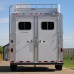2 Horse Mustang Living Quarters - Standard Double Rear Doors (56/44)