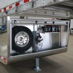 7 Horse Gooseneck Slant Load - Enclosed Under Nose with Roll-Up Door