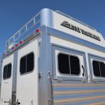 2 Horse Mustang Living Quarters - Added Aerodyne Nose Hay Rack