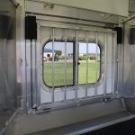 3 Horse Mustang Living Quarters - Drop Down Door with Production Style Drop Down Bars (Interior View)