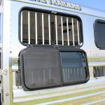 Low Pro Gooseneck with Dress - Black Framed 15 inch X 34 inch Drop Down Window with Bolt on Bars (Available on Low Pro Trailers Only)
