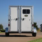 2 Horse Colt SS Bumper Pull Horse Trailer - Standard Double Rear Doors (56/44) with Window in Load Door and Double Pipe Hardware (No Overlapping Doors)