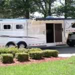 3 Horse Mustang with 10 foot 8 inch Living Quarters (Awning Open)