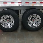 Straight Floor Semi Stock Trailer - 11R24.5 Tires (4 Polished Aluminum Wheels and 4 Mill Finish Inner Aluminum Wheels)