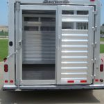 Bumper Pull Stock Trailer - Standard Full Width Rear Gate with 1/2 Slider