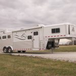 3 Horse Gooseneck Slant Load with Living Quarters - Resistol Package