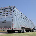 Ground Load Semi Stock Trailer - Added Full Width Spring Loaded Rear Ramp